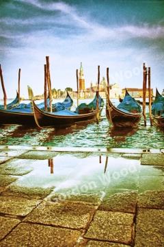 Gondolas - Piazza San Marco - Venice - Gold Variation