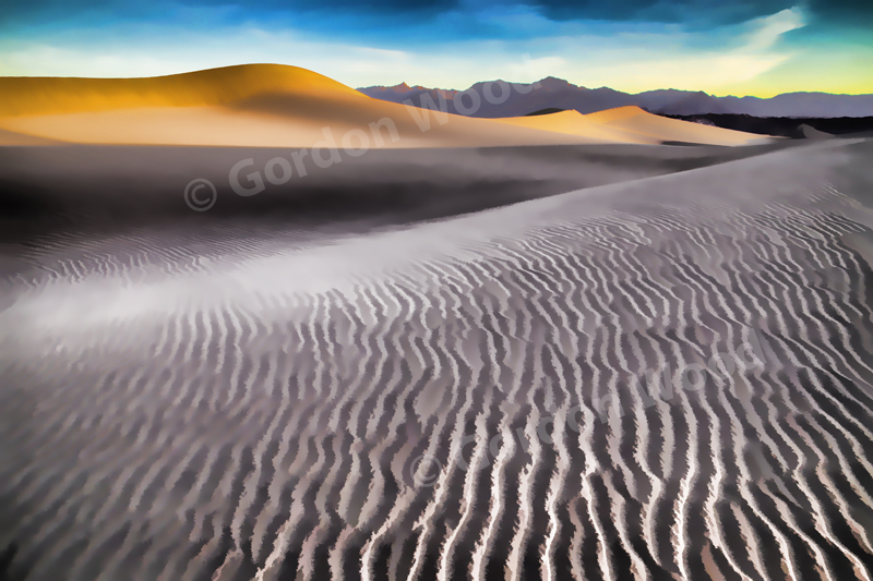 Mesquite Dunes and Grapevine Mountains at Sunrise